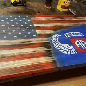 82nd Airborne Rustic Flag