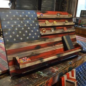 Completely Customized Veteran's Flag Display