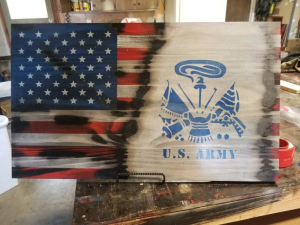 US Army Rustic Flag